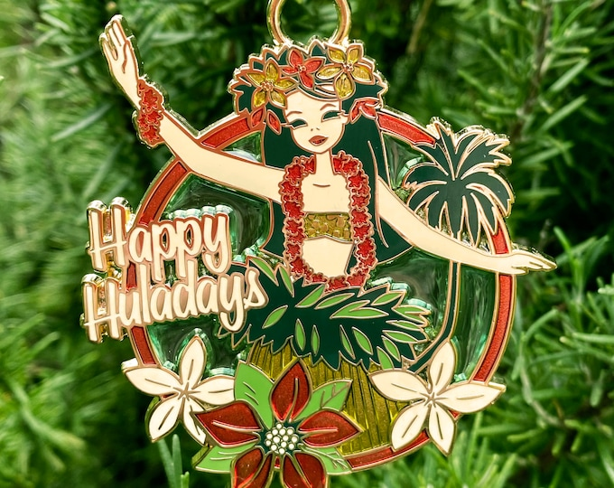 Happy Huladays Holiday Ornament