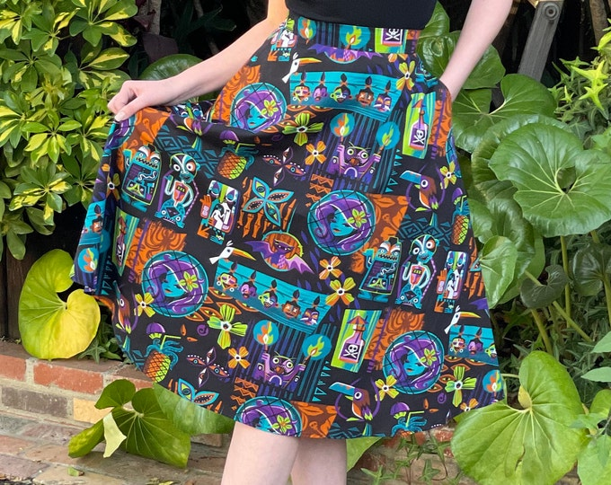 PRE ORDER, Calling All Spirits Aloha Circle Skirt with Pockets, Domestic Shipping Included