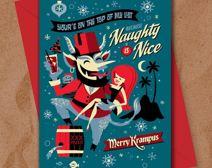 Merry Krampus Greeting Card