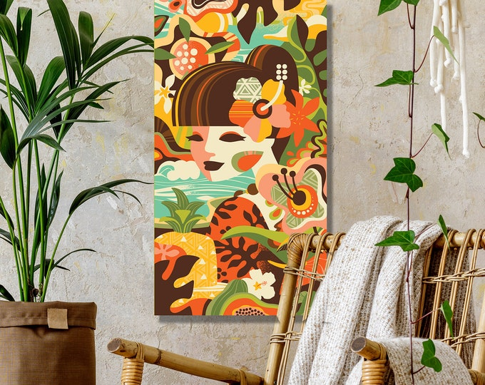 "Autographed Gallery Canvas Giclee, ""Mod Tropics"""
