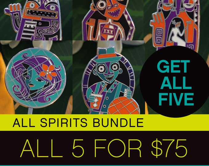 Pre Order, Ships Early September, All Spirits Bundle, Five Ghosts For 75 Dollars, Make A Drink And a Splash!