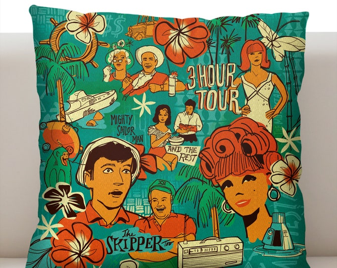 Three Hour Tour Pillowcase