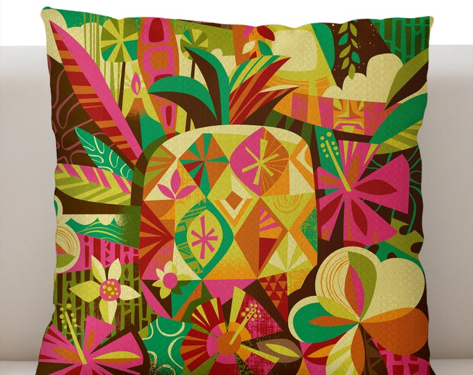 Tropical Pineapple Pillowcase