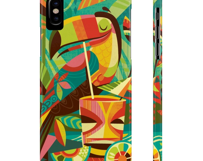Tiki Toucan By Jeff Granito Slim Phone Case
