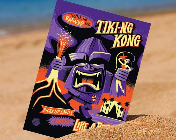 Tiki-ng Kong Postcard