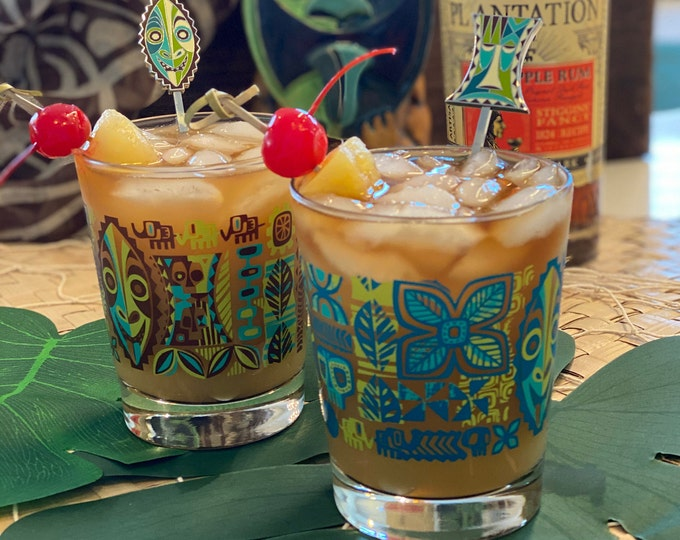 Jungle JuJu Mai Tai Cocktail Glass Set