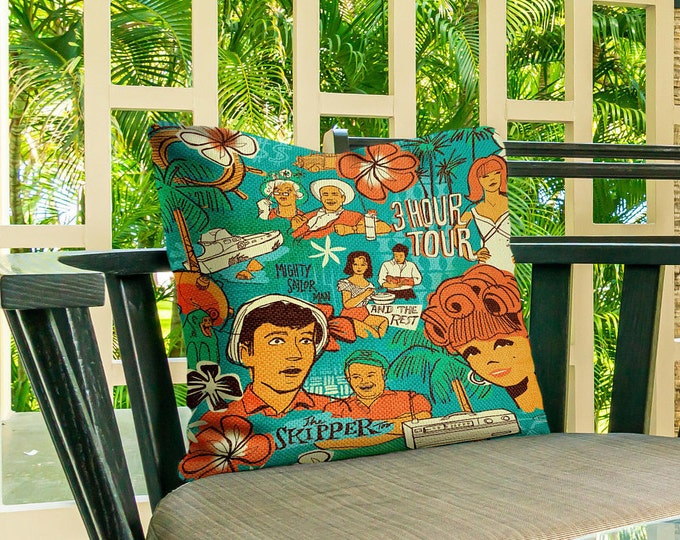 Outdoor Pillow Cover, Three Hour Tour