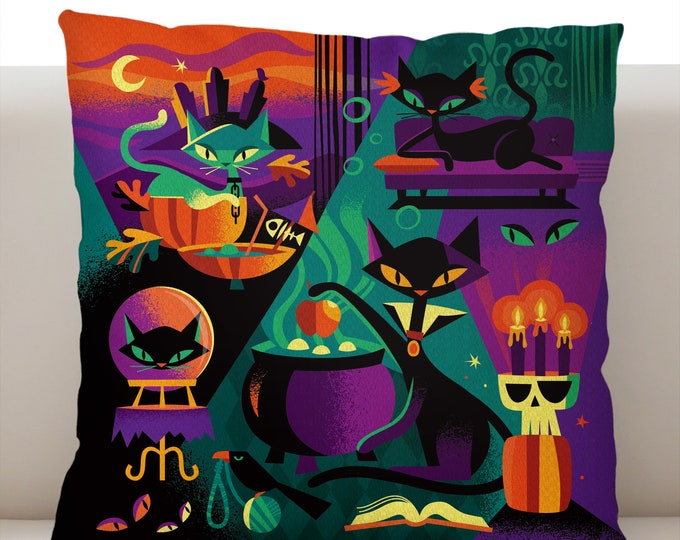 Cat's Black Magic Pillowcase