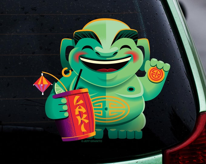 Laki Fortune Menehune Window Cling