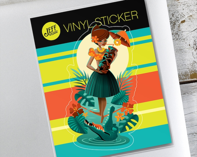 Tiki Croctail Vinyl Sticker