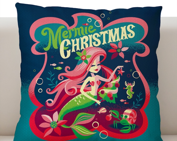 Mermie Christmas Pillowcase