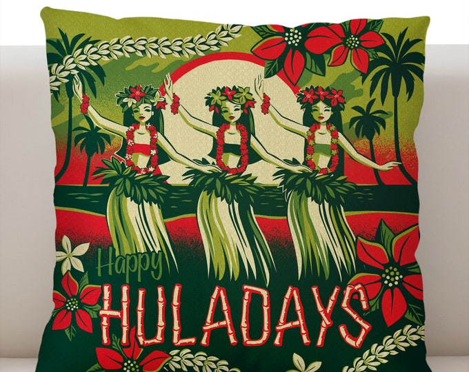 Happy Huladays Pillow Cover