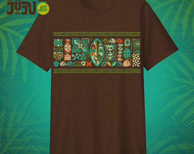 PRE-SALE AUGUST Delivery, Jungle JuJu T-shirt, Tiki, Graphic Tees, Jungle Cruise, Jungle Animals, Jungle Print