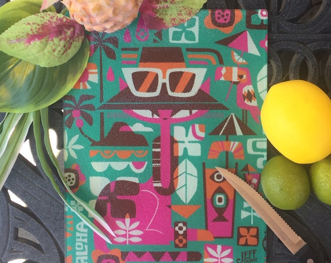 Tiki Cat Glass Cutting Board