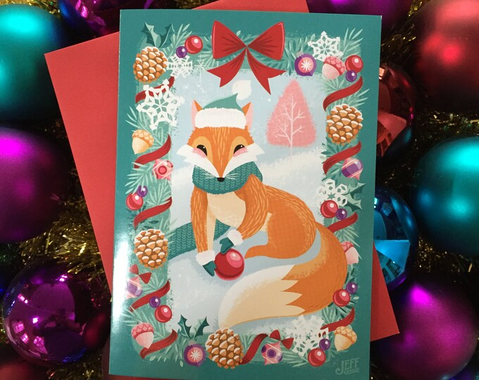 A Christmas Tail Greeting Card