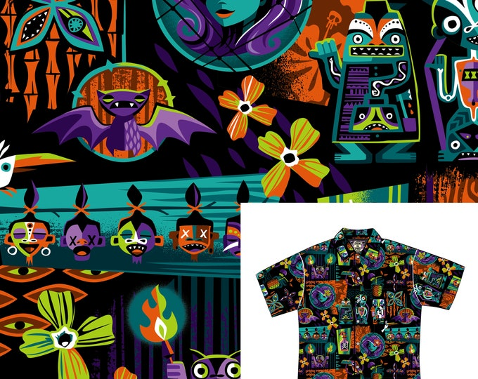 Limited Edition Calling All Spirits Aloha Unisex Shirt, Free matching face mask, Free shipping