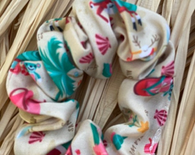 Sandy Claws Small Silk Scrunchies Two Pack