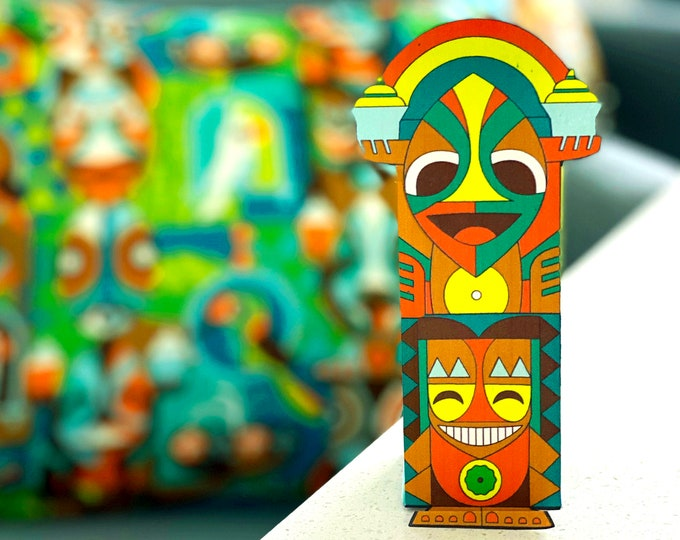 Color Me Tiki Craft