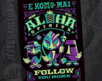 Aloha Spirits Night Postcard
