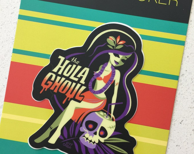 Hula Ghoul Vinyl Sticker