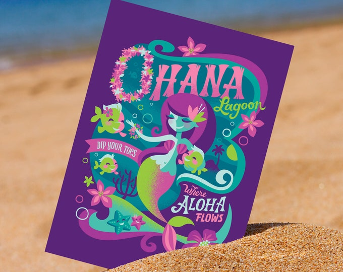 Ohana Lagoon 5 x 7 Mini Print