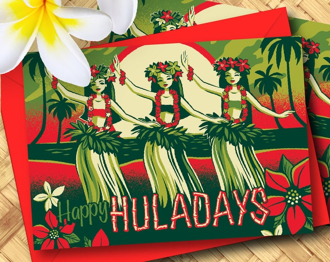 Happy Hulidays Greeting Card Set