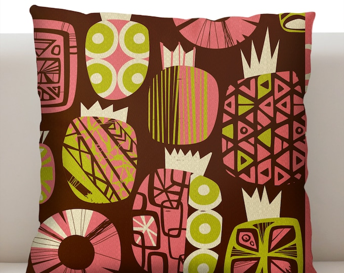 Fresh Pineapple Pink Pillowcase
