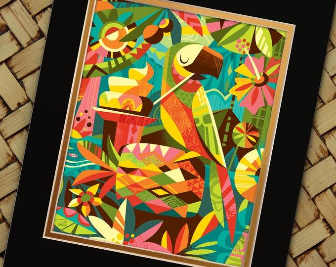 Parrotdice Print