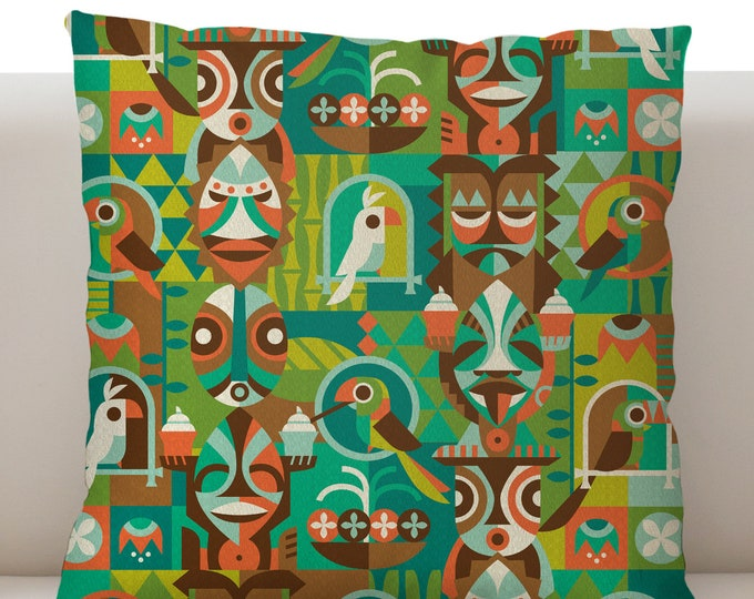 Tiki Room Breeze Pillow Cover