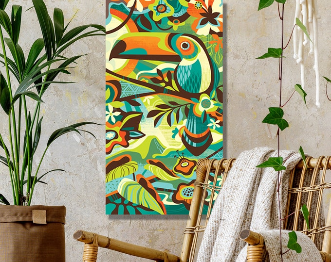 Autographed Gallery Canvas Giclee, Tropical Canopy
