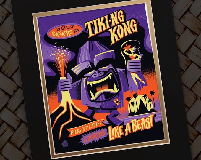 Tiki-ng Kong Print
