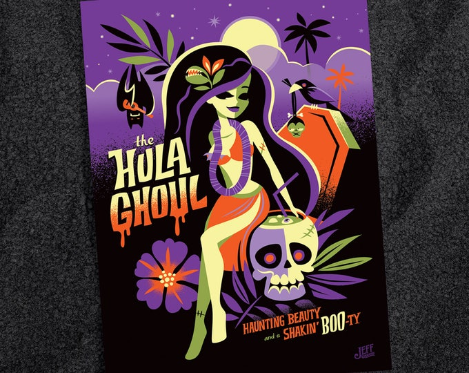 Hula Ghoul Postcard