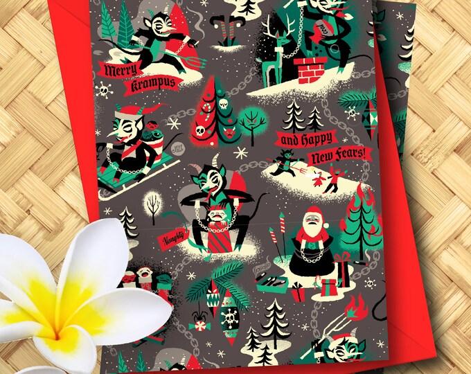 Merry Krampus Greeting Card Set