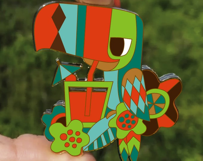 PRE ORDER-Tipsy Toucan Movable Pin, Third Limited Edition!!! By Jeff Granito Designs