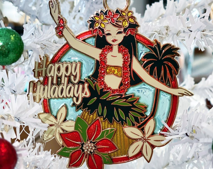 Happy Huladays Holiday Ornament