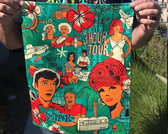 Three Hour Tour Bar Towel