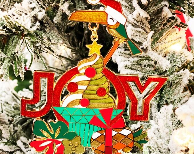 Joy to the Swirls Holiday Ornament