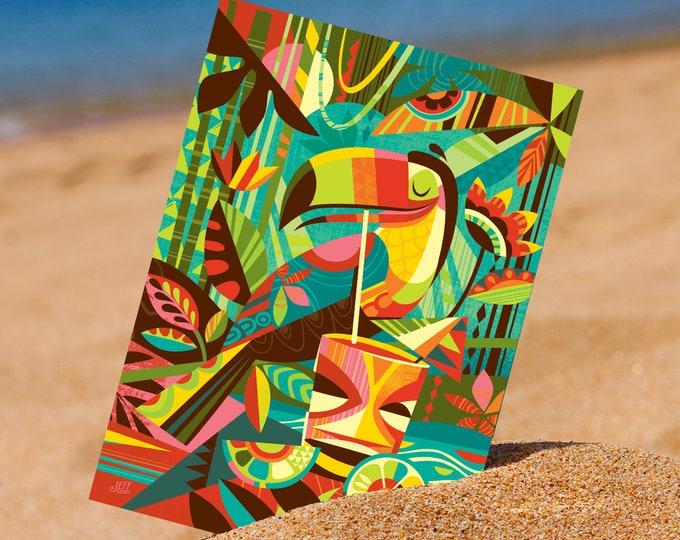 Tiki Toucan Postcard Print
