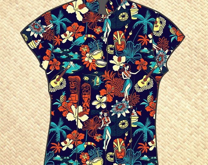 PRE ORDER, Wish You Were Here Women's Aloha Shirt, Domestic Shipping Included