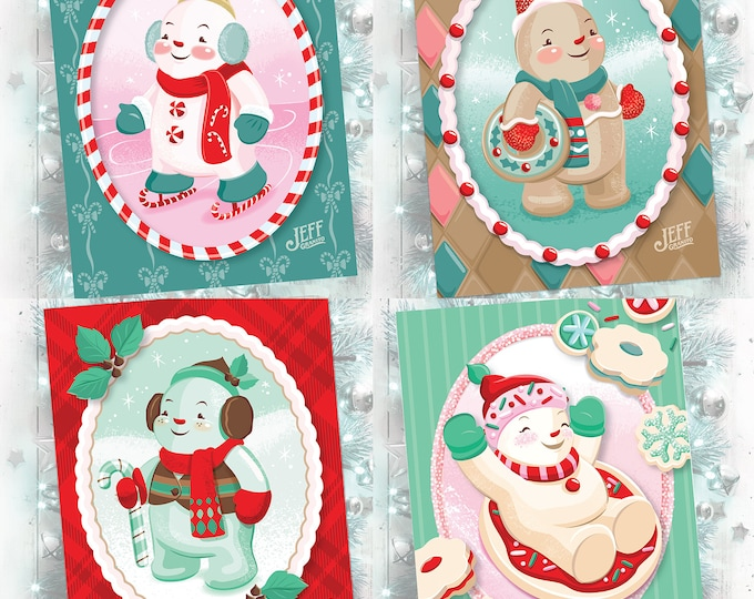 Sweet Snowmen Card Set