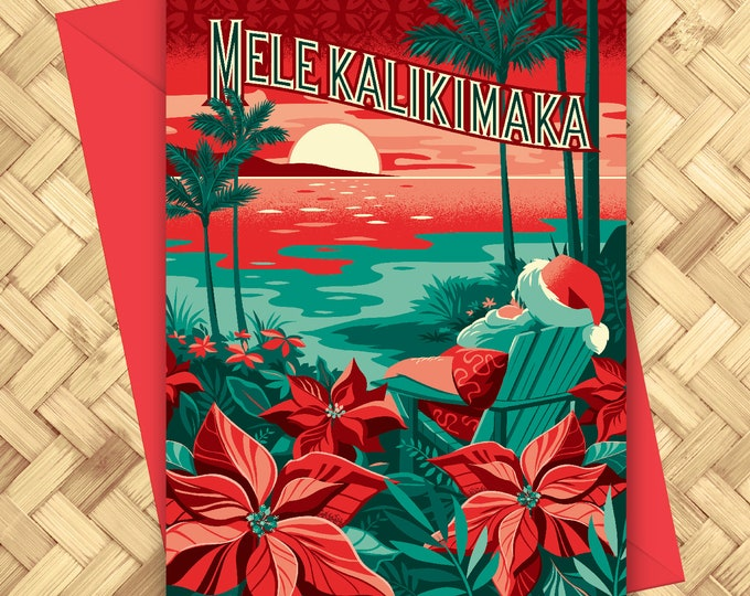 Mele Kalikimaka Christmas Greeting Card