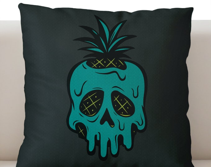 Poisoned Pineapple Gray Pillowcase