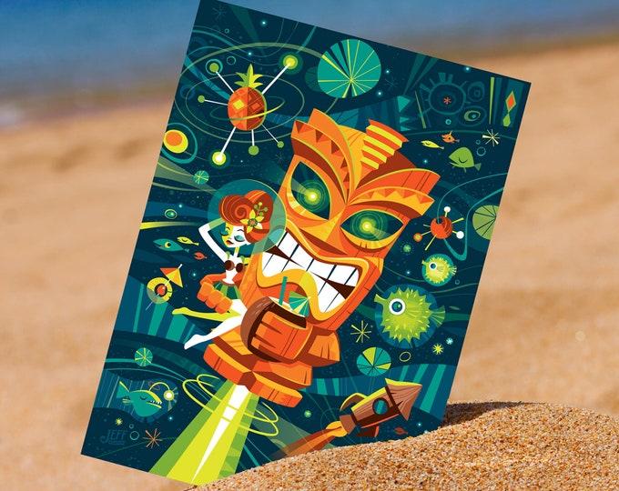Tiki Planets 5 x 7 Mini Print