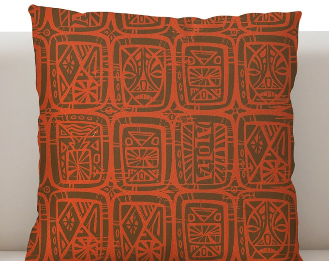 Tattoo Breeze Orange Pillow Cover