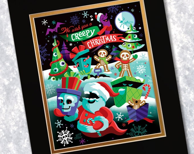 Creepy Christmas Print