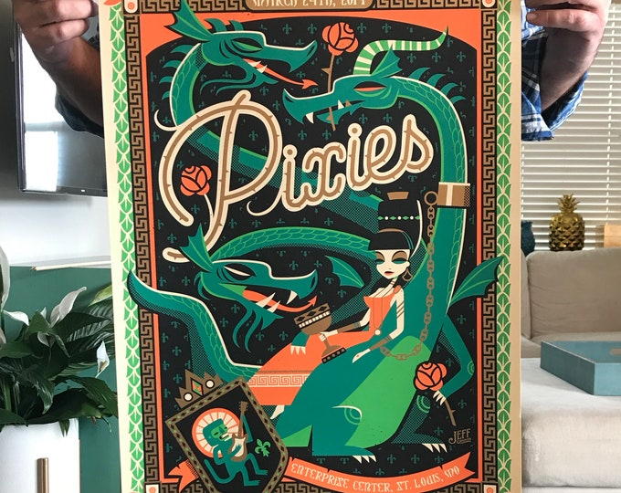 Pixies Original Concert Poster, Saint Louis, March 24, 2019