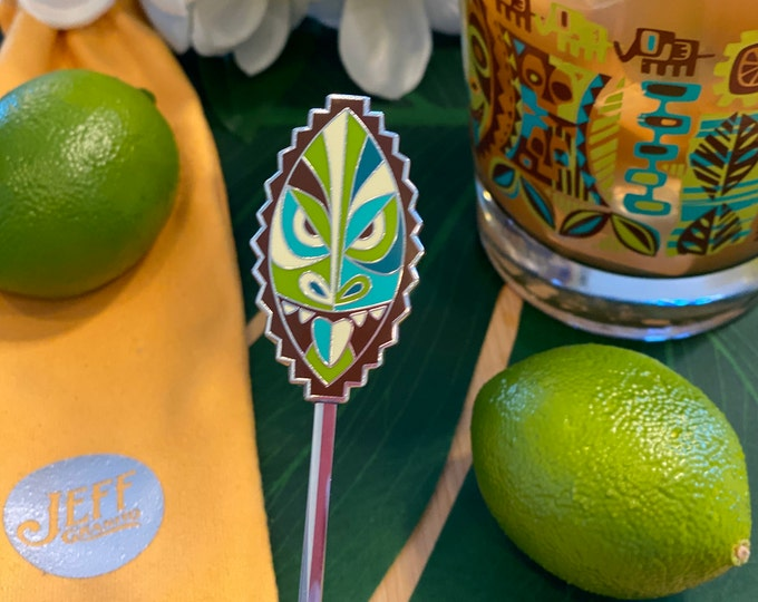 Pre-Order Jungle JuJu Greeting Swizzle Stick, Delivery Early September, Make a Drink AND a Splash~ Cheers!
