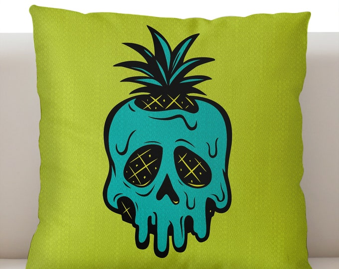 Poisoned Pineapple Bright Green Pillowcase