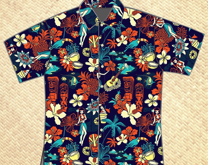 PRE ORDER, Wish You Were Here Unisex Aloha Shirt, Domestic Shipping Included