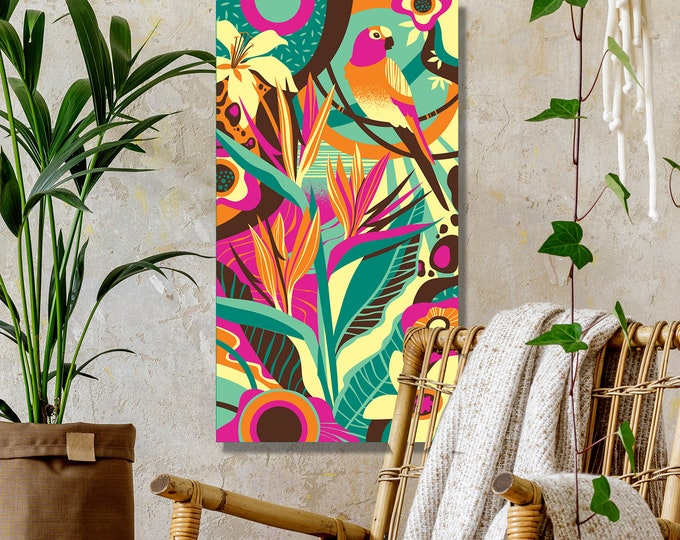 "Autographed Gallery Canvas Giclee, ""Bird of Paradise"""